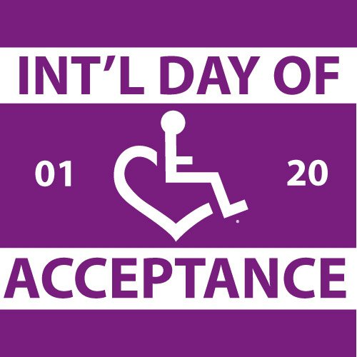 International day of acceptance graphic - purple